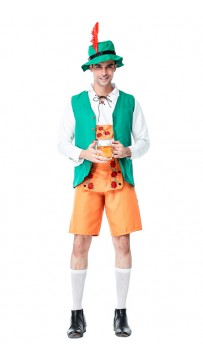 German Beer Oktoberfest Barman Costume