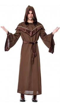 Gothic Sorcerer European Religious Men and Priests Mystic Sorcerer Costume