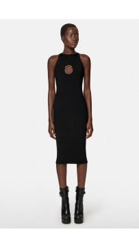 Knit Midi Dress With Ring Hardware