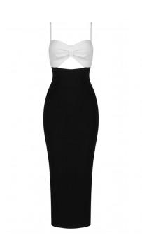 Sexy Shoulderless Long Black Bandage Dress