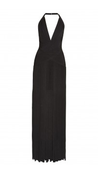 Herve Leger Rebekah Draped Bandage Gown