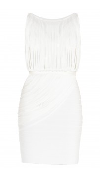 Herve Leger Leilei Draped-Bandage Dress