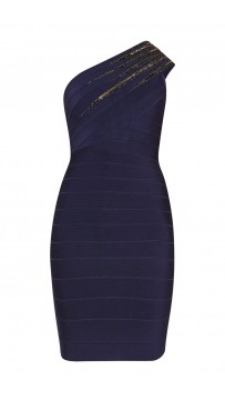 Herve Leger Brianne Starburst Sequined Dress