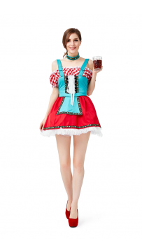 Womens Dress Oktoberfest Fraulein Party Costume