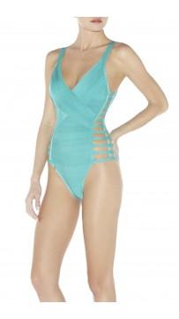 Herve Leger Bandage Bikini Blue