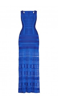 Herve Leger Alejandra Pointelle Bandage Dress