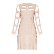 Herve Leger Brielle Chiffon Detail Dress