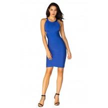 Herve Leger Bandage Dresses Halter Blue Backless