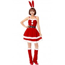 Red Bunny Ears Christmas Dress