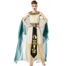 Halloween Cosplay Ancient Egyptian Pharaoh Queen Cleopatra Goddess Costume