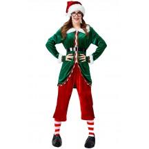 Christmas Long Sleeve Green Christmas Elf Costume