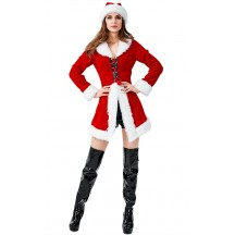 Christmas Party Sexy Corset Santa Costume