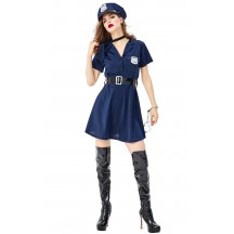 Sexy Policewoman Uniform Halloween Cosplay Costume