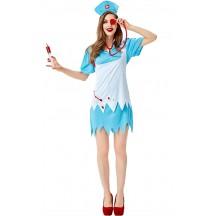 Halloween Sexy Women Cardiac Arrest Nurse Costume