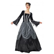 Halloween Costume Gorgeous Vampire Witch Black Court Dress