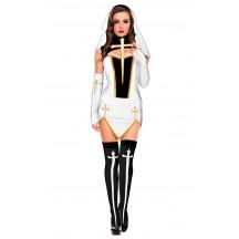 Halloween Women Bad Habit Nun Costume