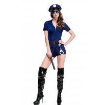 Sexy Dark Blue Naughty Police Cop Costume