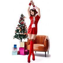 Bandage V-neck Christmas Party Skirt