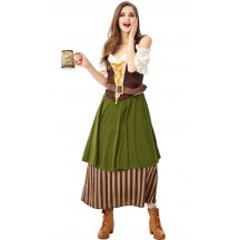 Oktoberfest New Women Bartenders Serving Beer Costume Masquerade Party Wear