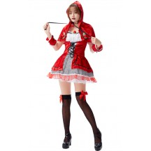Halloween Womens Sexy Anime Fairy Tales Little Red Riding Hood Costume