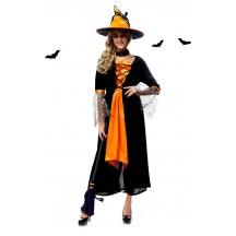 Halloween Costumes Orange Magic Witch