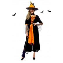 Halloween Costumes Orange Magic Witch