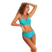Solid Color Halter Ruffles Two Piece Bikini