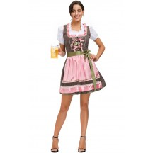 Halloween Flirty Fraulein Oktoberfest Outfit Fancy Dress Sexy Costume