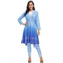 Halloween Fairy Tale Princess Snow Queen Gown