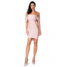 Herve Leger Bandage Dress Off Shoulder Pink