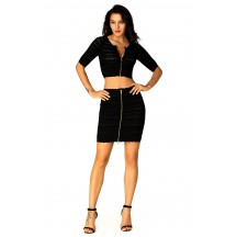 Herve Leger Courtney Lace-Stitched Scalloped-Trim