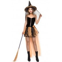 Halloween Woman Devil Pumpkin Witch Costumes