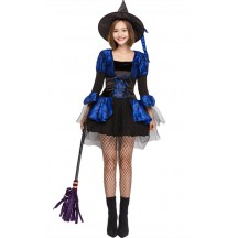 Halloween Blue Lace Witch Skirt