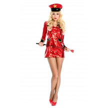 Halloween Sexy Red Army Girl Costume