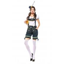 Oktoberfest Outfit Pocket Short Sleeve Costume