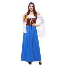Womens Long Elegant Dress Oktoberfest Fraulein Costume