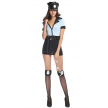 Halloween Sexy Police Officer Cop Costume