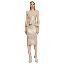 Herve Leger Metallic Two Piece Bandage Dress