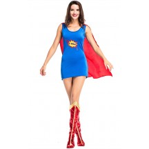 Halloween Sexy Superwoman Captain America Costume