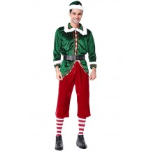 Christmas Elf Costume  Man Party Cosplay Sets