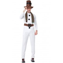Christmas Party Man White Christmas Snowman Costume