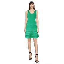 Herve Leger Bandage Dress Flared Tank Lace Green