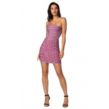 Herve Leger Bandage Dresses Strapless Jacquard Mini Dress