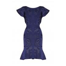 Herve Leger Alessia Rose Plaited Jacquard Dress