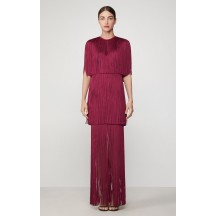 Herve Leger Inge Sleeve Tiered Gown