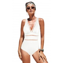 Sexy Solid Color Halter One-Piece Bikini