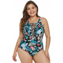 Sexy Plus Size Printed Bikini One-Piece Swimsuit