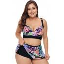 Printed Plus Size Sexy Bikini Split Swimsuit