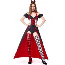 Halloween Cosplay Red Heart Queen Off-shoulder Costume