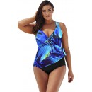 Sexy V-Neck Plus-Size One-Piece Swimsuit